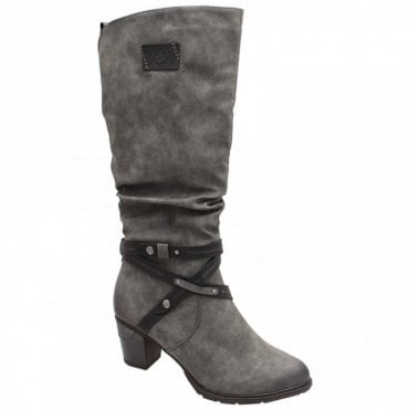 Crossover Strap Long Boot
