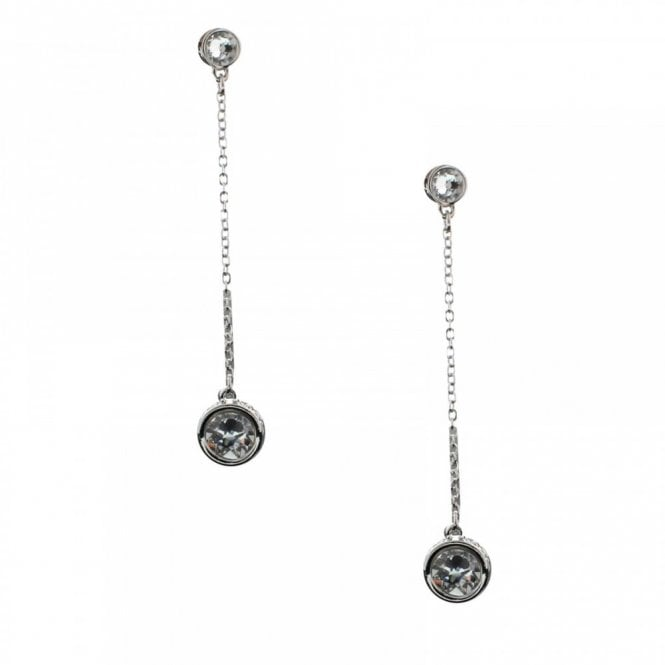Nour London Crystal And Pearl Drop Style Earring