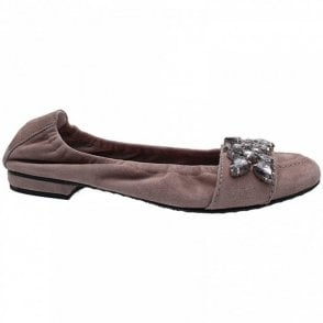 Crystal Diamante Band Ballet Pump
