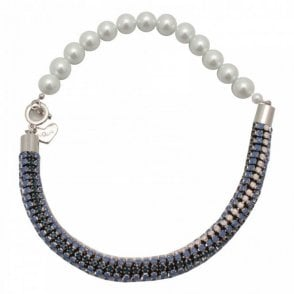Nour London Crystal Pearl Mix Short Necklace