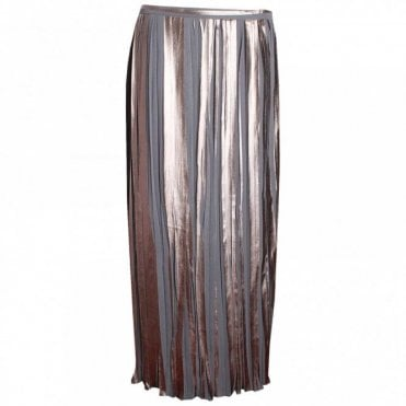 Crystal Pleated Long Skirt