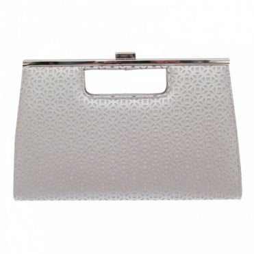 Cut Out Clutch Bag With Chain Strap