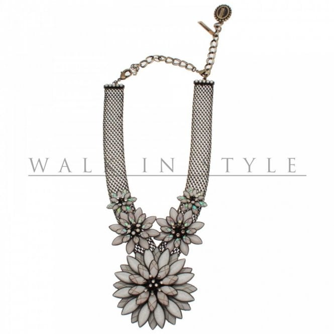 Konplott Dahila Flower Detail Chain Necklace