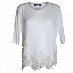 Daisy Lace Detail 3/4 Sleeve Top