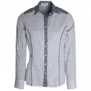 Daisy Print Stretch Cotton Shirt