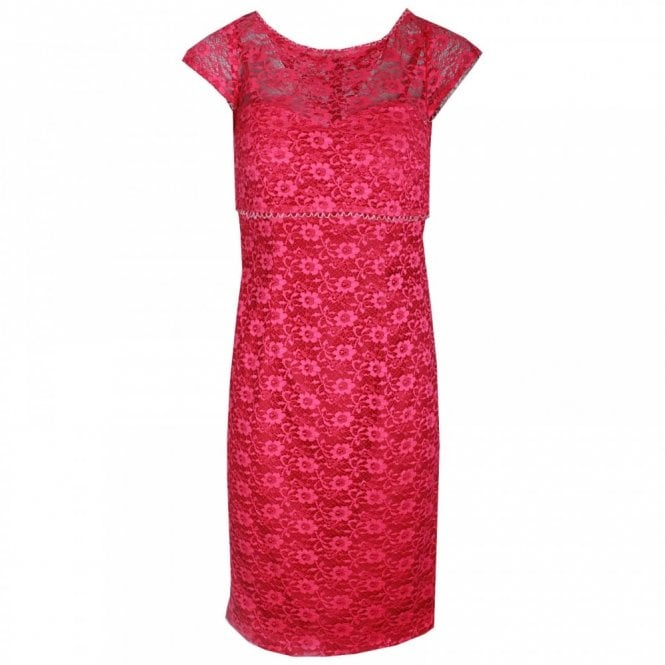 Veromia Occasions Delicate Capped Sleeve Lace Shift Dress