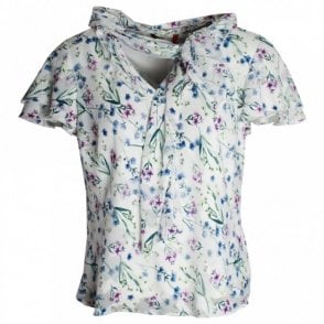 Delicate Daisy Printed Short Sleeve Top