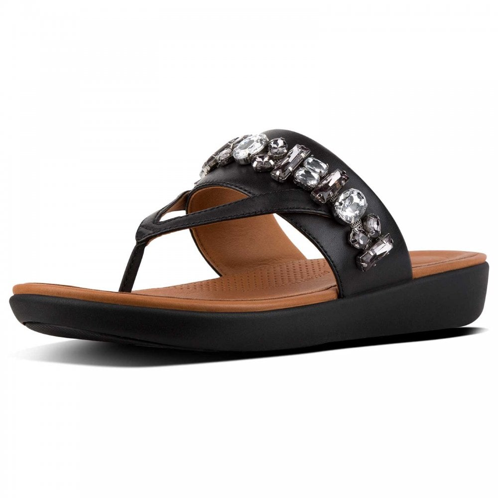 44ecbe5aa Delta™ Bejewelled Leather Toe-thongs By Fitflop At Walk In Style