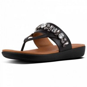 Fitflop™ Delta™ Bejewelled Leather Toe-thongs