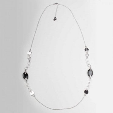 Diamante Charm & Stone Necklace