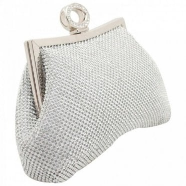 Diamante Clutch Bag With Chain Strap