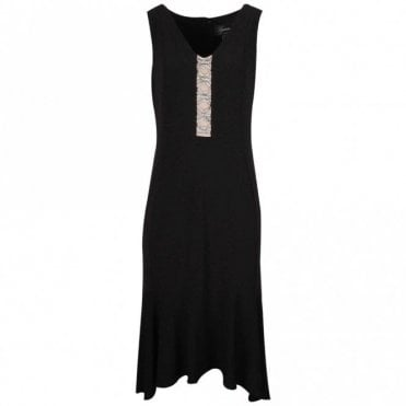 Frank Lyman Diamante Detail Sleeveless Fitted Dress