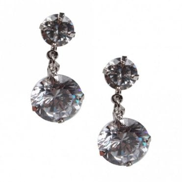 Nour London Diamante Drop Earrings
