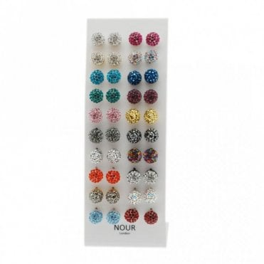 Diamante Effect Circle Stud Earrings