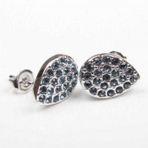 Nour London Diamante Encrusted Teardrop Earrings