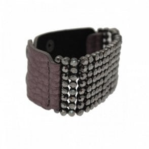 Diamante Panel Wide Strap Bracelet