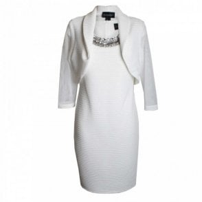 Diamate Collar Dress And Jacket