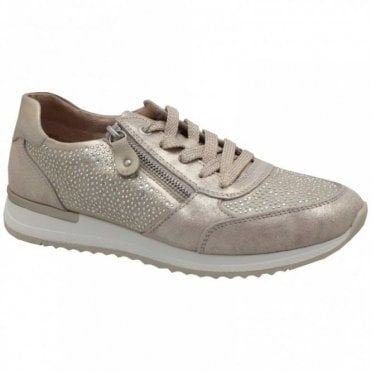 Diamonte Detail Lace Up Trainer