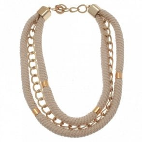 Badoo Double Rope Chain Detail Necklace