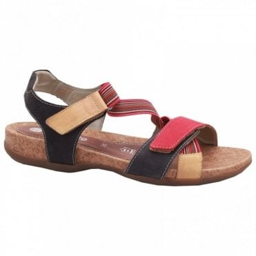 Remonte Double Strap Fastening Flat Sandal