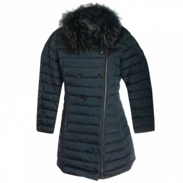 Down Padded Coat With Fur Collar
