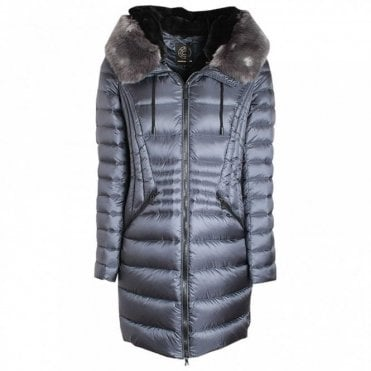 Down Padded Coat With Oversized Hood