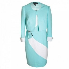 Dress & Jacket With Diamante Detail