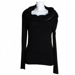 Isabel De Pedro Drop Neck Zipper Top