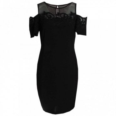 Drop Sleeve Lace Detail Shift Dress