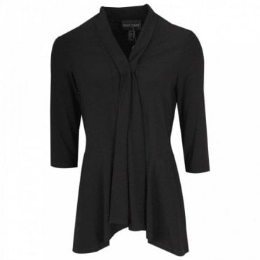 Edge To Edge 3/4 Sleeve Black Jacket