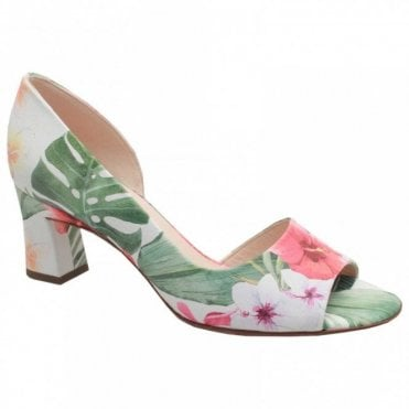 Elana Side Out Tropical Print Court Shoe