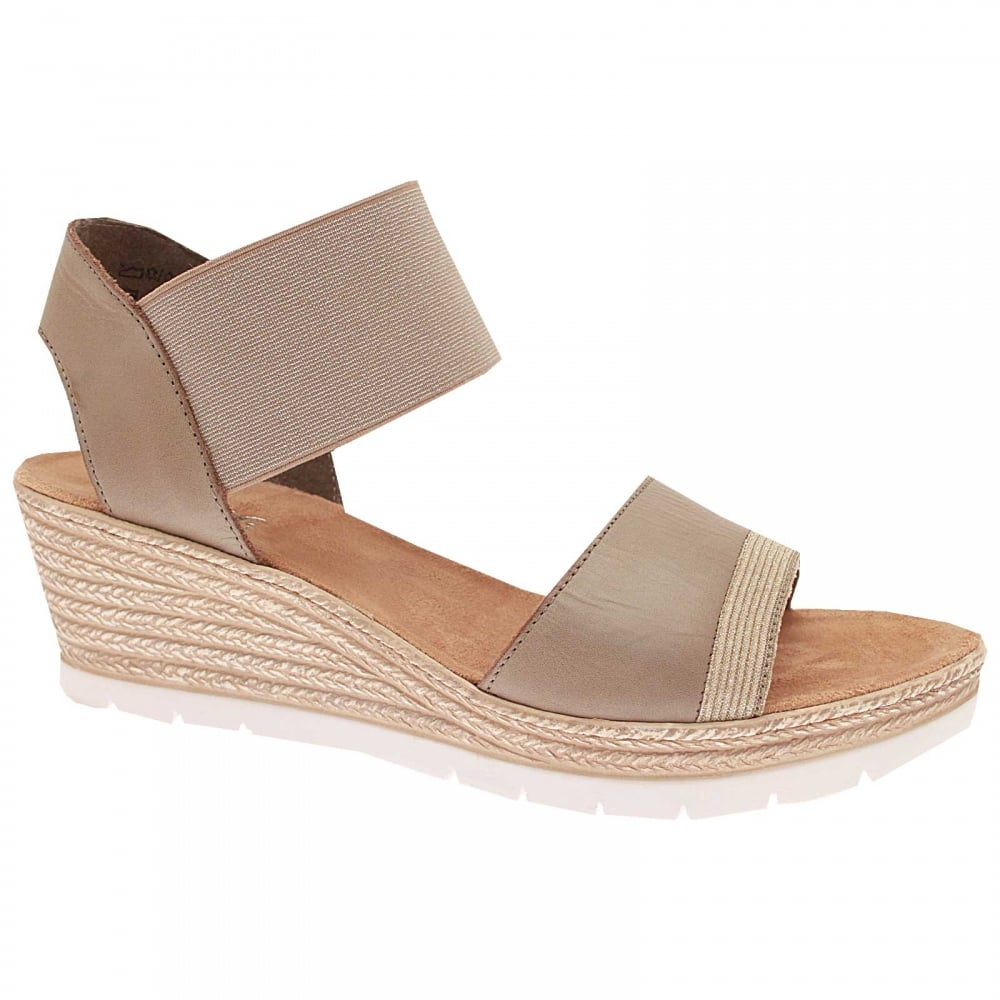 c86e69169 Elastic Strap Wedge Sandal By Rieker At Walk In Style