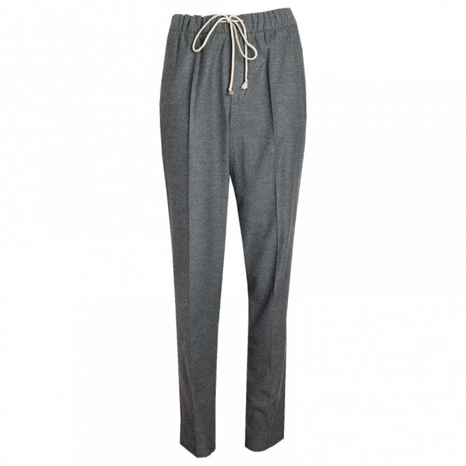 Oui Elastic Waistband Jersey Trousers
