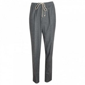 Elastic Waistband Jersey Trousers