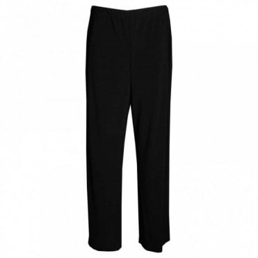 Elastic Waisted Pull On Wide Trousers