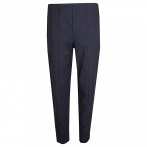 Elasticated Waist Straight Leg Trousers
