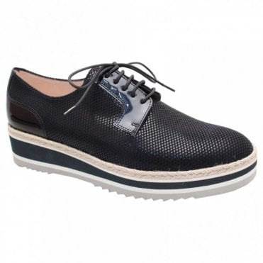 Emilie Lace Up Flatform Brogue Shoe