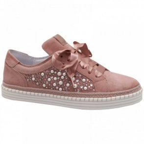 Alpe Espadrille Style Pearl Detail Trainer