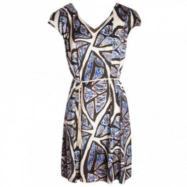 Ethnic Print Short Sleeve Sun Dress
