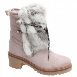 Alpe Faux Fur Lace Up 3/4 Ankle Boot