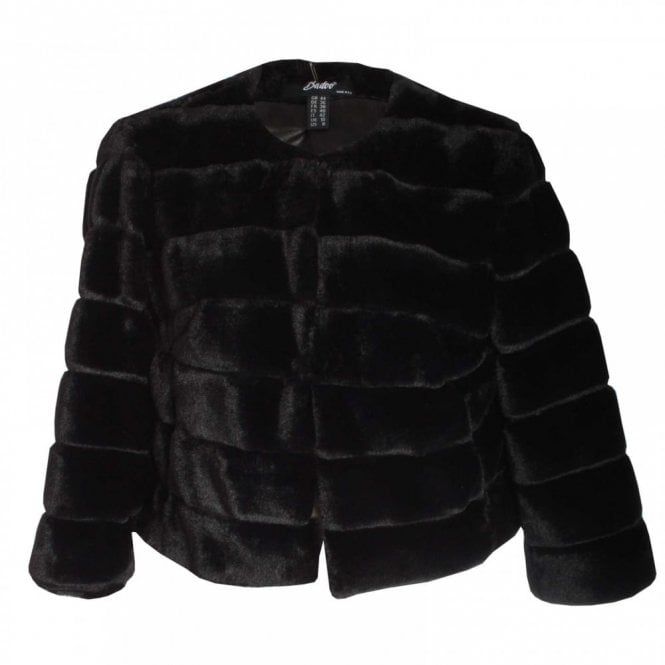 Badoo Faux Fur Long Sleeve Jacket