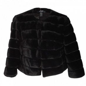 Faux Fur Long Sleeve Jacket