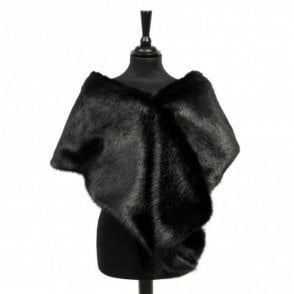 Moore & Moore Faux Fur Velvet Lined Stole Scarf