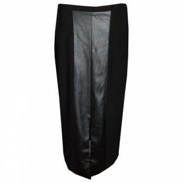 Faux Leather Long Straigth Skirt