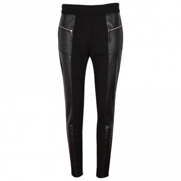 Tuzzi Faux Leather Side Zip Trousers