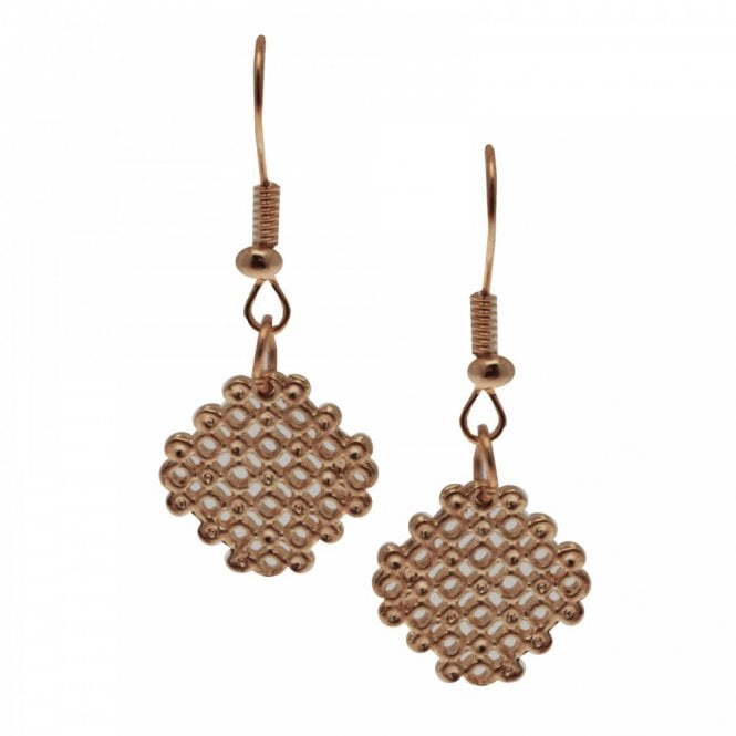 Bcharmd Filigree Gold Drop Style Earrings