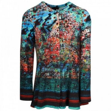 Fine Art Print Button Up Cardigan