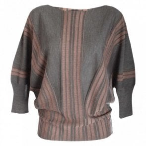 Fine Knit Bat Wing Jumper
