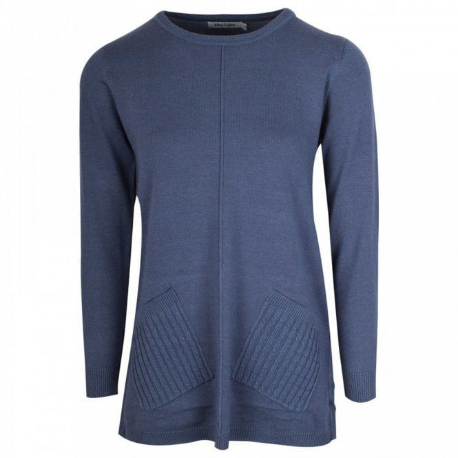 Alice Collins Fine Knit Pocketed Jumper
