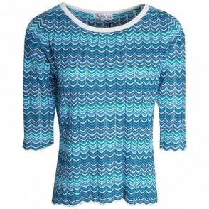Passioni Fine Knit Three Quarter Sleeve Jumper